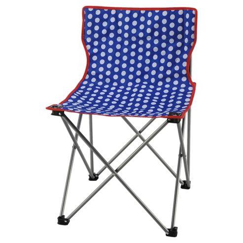 Tesco Festival Folding Camping Chair, Polka Dot
