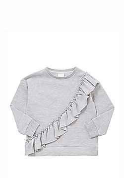 F&F Frill Detail Sweatshirt - Grey