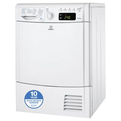 Indesit Ecotime Condenser Tumble Dryer, IDCE 8450 B H (UK) - White