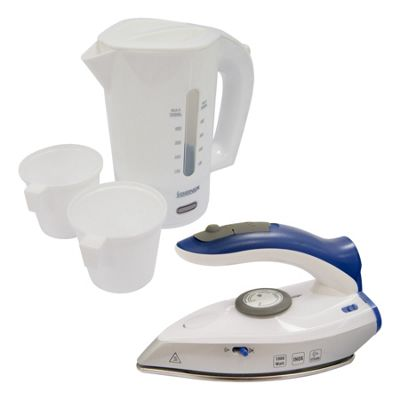 Igenix IGPK13 Travel Set Travel Kettle and Travel Iron