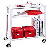 Kent - Two Shelf Mobile Storage Unit - White