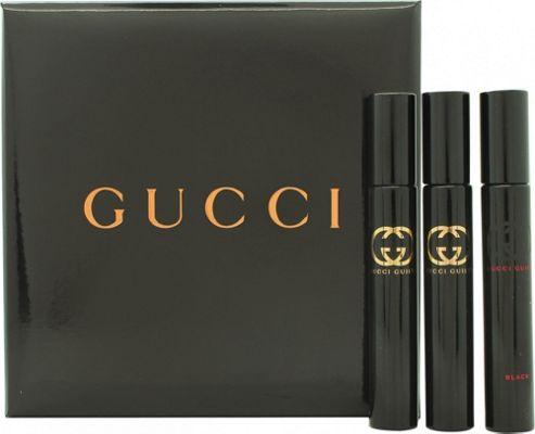 Gucci Guilty Miniature Gift Set 2 x 7.4ml Gucci Guilty EDT + 1 x 7.4ml Gucci Guilty Black EDT For Women