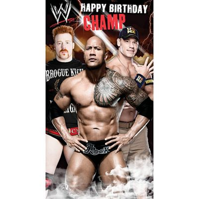 Buy Wwe Birthday Card From Our Gift Wrap Range Tesco