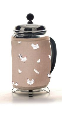 Rushbrookes Pecking Order 100% Cotton Stone Cafetiere Cosy 16150207