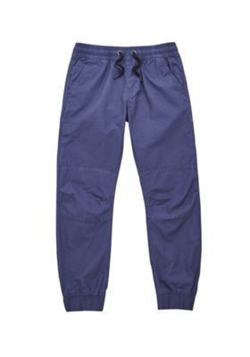 F&F Ripstop Cuffed Trousers Navy Blue 5-6 years