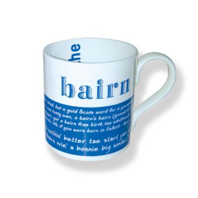 D&C Supplies 'Bairn' Scottish Dialect Mug Cup Blue