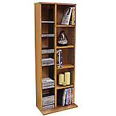 Claremont - Cd Dvd Blu-ray Video Multimedia Storage Unit - Beech