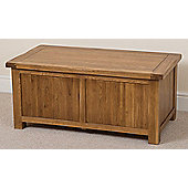 Cotswold Rustic Solid Oak Blanket Box