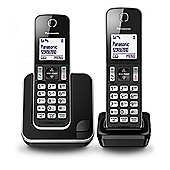 PANASONIC KXTGD312EB Digital Cordless Phone with 2 Handsets in Black