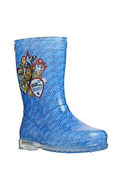 Nickelodeon Paw Patrol Light-Up Wellies - Blue