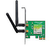 TP LINK - 300Mbps Wireless N PCI Express Adapter Atheros 2T2R 2.4GHz 802.11n/g/b 2 detachable antennas