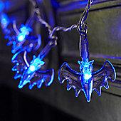 20 Blue LED Battery Halloween Bat Fairy Lights