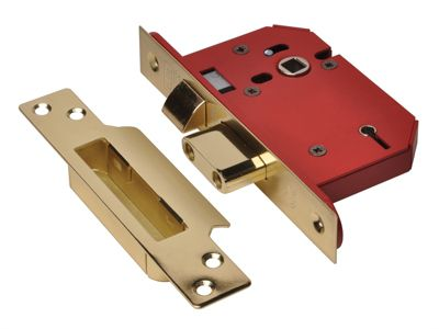 Union StrongBOLT 2205S 5 Lever Mortice Sashlock Polished Brass 81mm 3in Visi