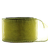 "Ribbon Organza Wired Edge - 2.5"" x 10y - Sage Green"