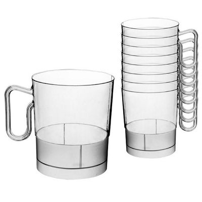 Clear Plastic Coffee Cups - 227ml - 20 Pack