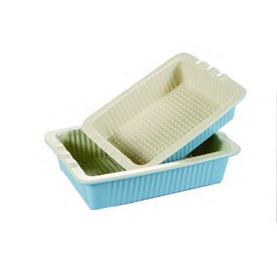 2 Piece Vintage Oven Dish Blue/Cream