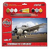 Airfix 1/72 Scale Grumman F4F-4 Wildcat Starter Set