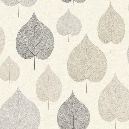 Crown One Leaf Natural Wallpaper