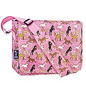 Girl's Pink Horses Satchel, Children Girls Messenger Bags-Horses