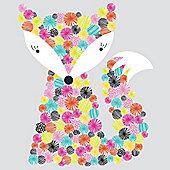 Nursery Wall Sticker - Giant Rainbow Fox
