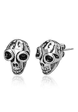 Urban Male Gothic Skull Head Stainless Steel Men's Earrings 8mm