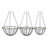 Parlane Set of Three Willow Hanging Baskets - 16 x 33cm