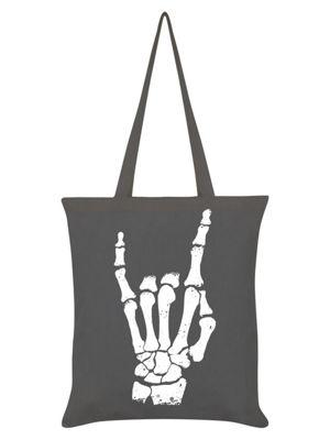 Rock Hand Graphite Grey Tote Bag 38x42cm