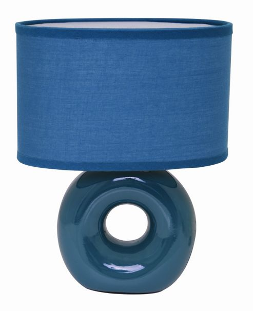 Home Essence Polo Ceramic 40W Table Lamp in Teal