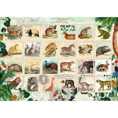 Wildlife Stamp Collection - 1000pc Puzzle