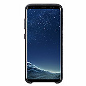 Samsung Galaxy S8 Alcantara Back Cover - Black