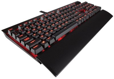 Corsair Gaming K70 LUX Red LED Cherry MX Red Mechanical Gaming Keyboard UK Layout