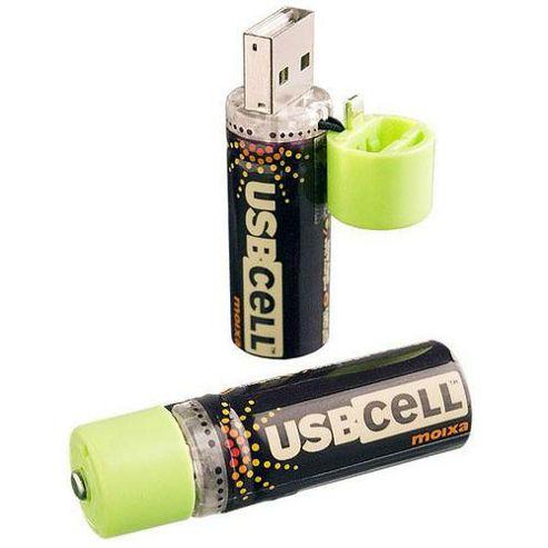 Moixa MXAA02 USB Cell AA Rechargeable Batteries x2