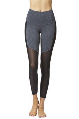 Control Mesh Bottom Gym Leggings Marl Grey 3X