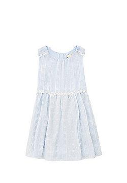 Yumi Girl Daisy Trim Chiffon Dress - Light blue