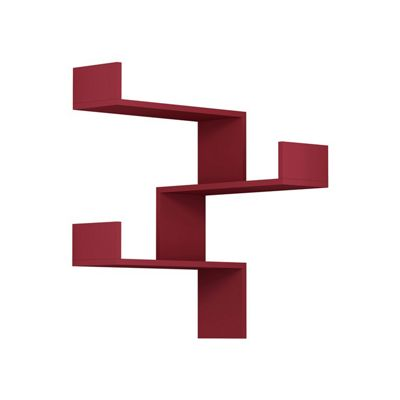 Luksa Corner Shelf Burgundy