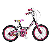 "Concept Girl'S Cool Chix Wheel Black 16"" Wheel Bike"