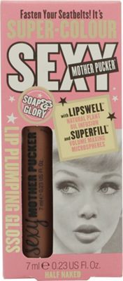 Soap & Glory Sexy Mother Pucker Lip Plumping Gloss 7ml - Half Naked
