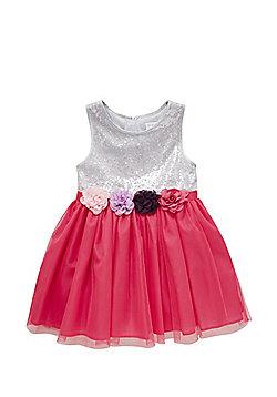 F&F Sequin Bodice Corsage Prom Dress - Multi