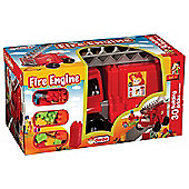 Fire Truck Toy with 30 Building Blocks