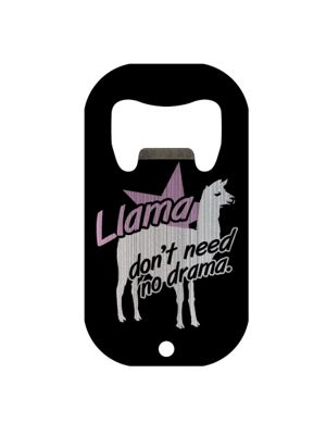 Llama Don't Need No Drama Mini Bar Blade Bottle Opener 7x3.8cm
