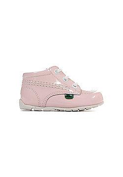 Kickers Kick Hi Baby Patent Infant Toddler Kids Shoe Boot Pink - Pink