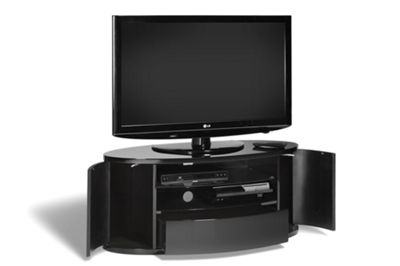 Techlink Ellipse TV Stand - Black - Upto 50 Inch