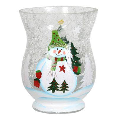 Aroma Snowman Hurricane Candle Holder