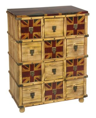 Vintage Union Jack Bank of Drawers