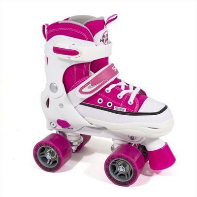 SFR Miami Adjustable Quad Roller Skates - Pink / White - Medium (junior 12 - Adult 2)