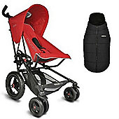 Micralite Fastfold Superlite Classic Stroller (Red)
