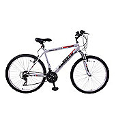 "Ammaco Aspen 16"" Frame Mens Front Suspension 26"" Wheel Bike Silver 21 Speed M..."