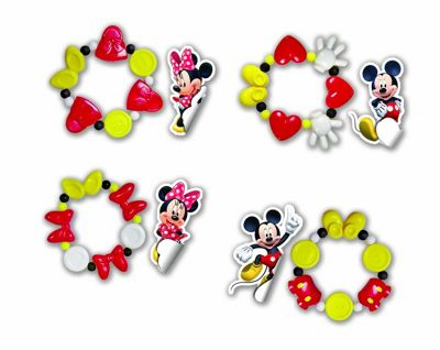 Disney Minnie Mouse Bracelets & Stickers Combo