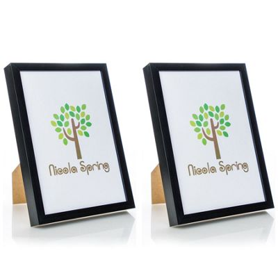 Nicola Spring Acrylic Box Photo Frame - Black - 8 x 12