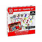 One Direction Body Art Transfer Kit, 270 Transfers